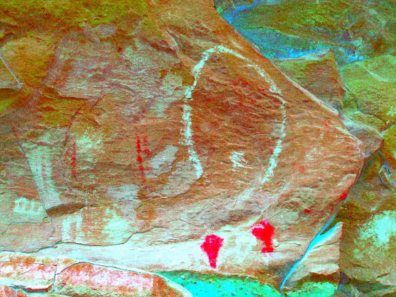 Enhanced white pictographs using DStretch