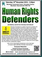 Human Rights Defenders 10 December 2016