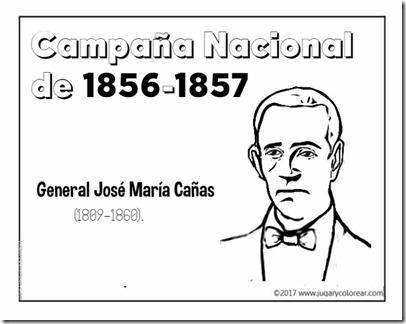 Campaña Nacional  de 1856-1857  General José María Cañas