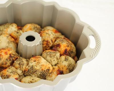 photo of monkey bread in a bundt pan