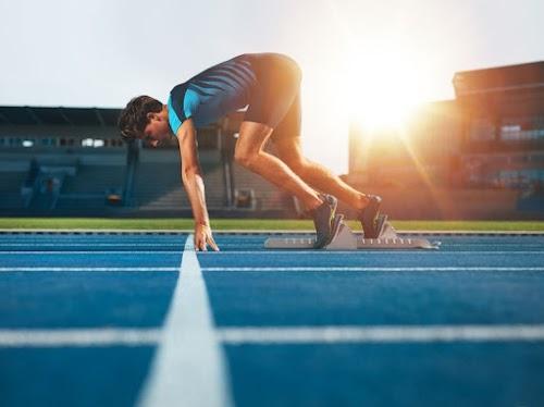 Atleta en la pista