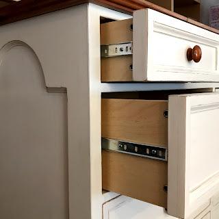 White Thirteen-Drawer Dresser
