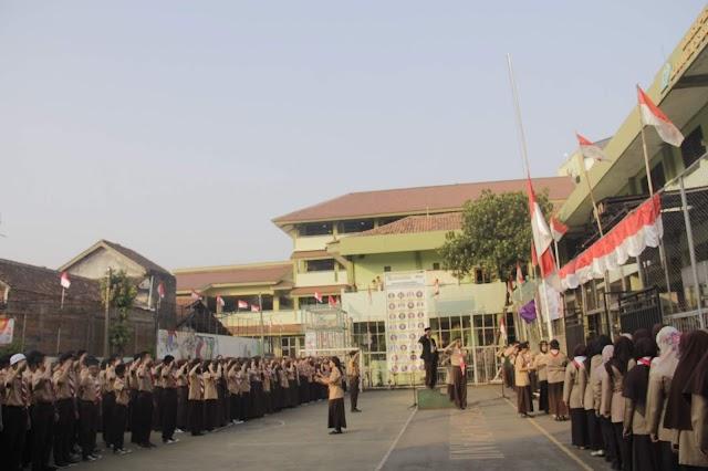 Upacara Memperingati Hari Ulang Tahun Gerakan Pramuka SMA-SMK Budhi Warman II