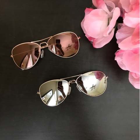 Thrifty Wife, Happy Life || Mirrored Aviator Sunglasses