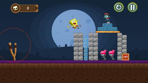 Sponge-bob Angry Zombies