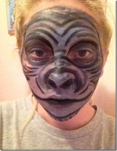 Maquillaje de gorila (1)