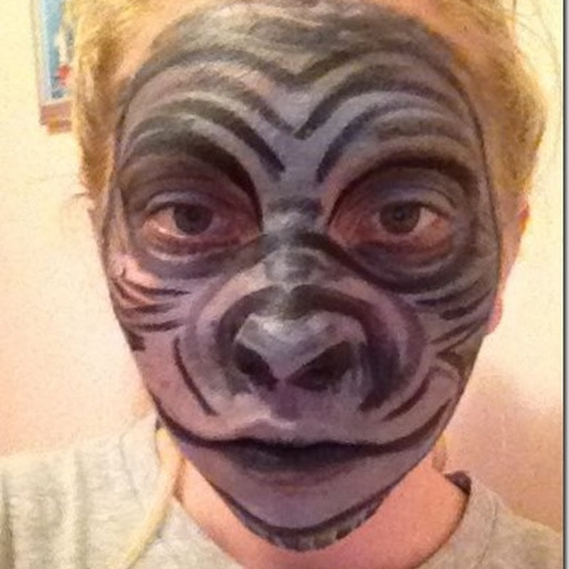 Ideas maquillaje de gorila halloween