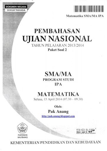 Download Soal Un Matematika 2015 Dan Pembahasannya