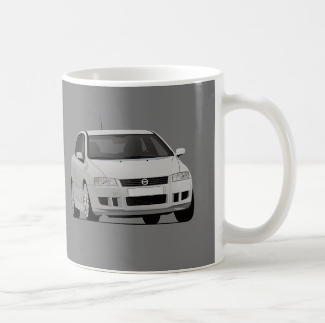 Fiat Stilo Abarth GT Schumacher coffee mugs