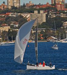 J/111 offshore one-design sailboat- sailing off Sydney