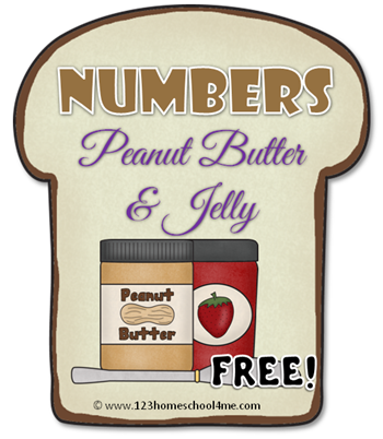 Numbers Peanut Butter and Jelly