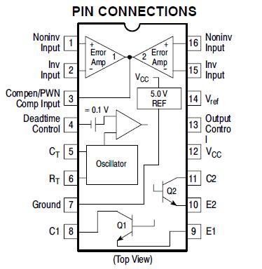Elektronewbie: TL494 Pinout