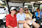 Golfers, from left, Matthew Crites, Clayton Murtha and Martha Crites.