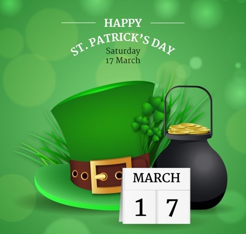 St patricks day hat with calendar