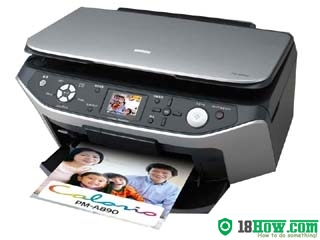 How to reset flashing lights for Epson PM-A890 printer