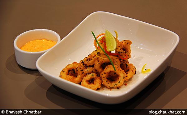 Calamari Rings with Dip served at 212 All Day Cafe & Bar at Phoenix Marketcity in Pune