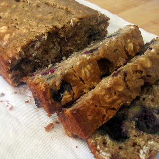 Low Fat Oatmeal Blueberry Banana Bread.
