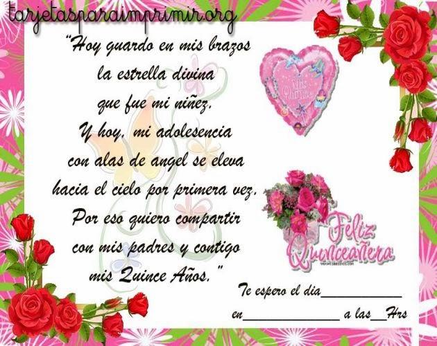 Felicitaciones de cumpleaños para quinceañeras ~ Frases de cumpleaños