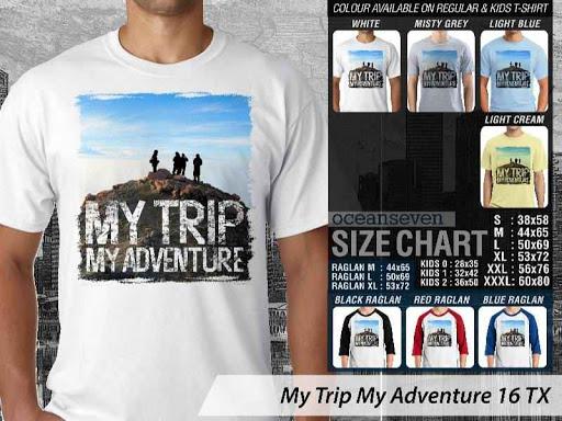 Kaos Wisata Indonesia My Trip My Adventure 16 distro ocean seven
