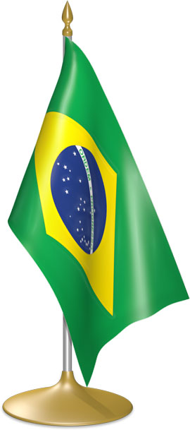 Brazilian table flags - desk flags