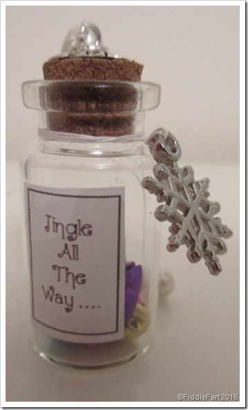 Jingle Bells tiny bottle decoration wish bottle