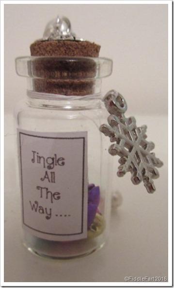 Jingle Bells tiny bottle decoration wish bottle