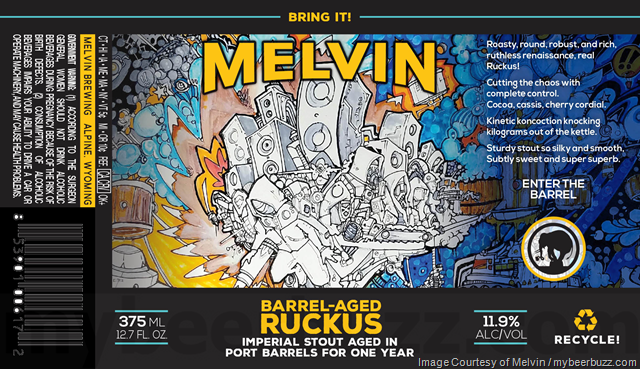 Melvin Brewing - Barrel-Aged Ruckus Bottles