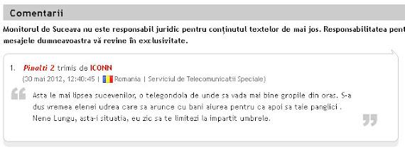 Comentarii Serviciul de Telecomunicaţii Speciale