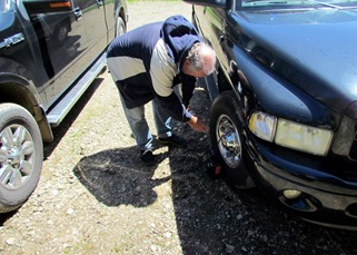1704181 Apr 23 Terry Fixing Our Flat Tire