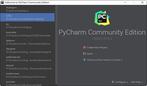 2016-07-31 045318-Welcome to PyCharm Community Edition
