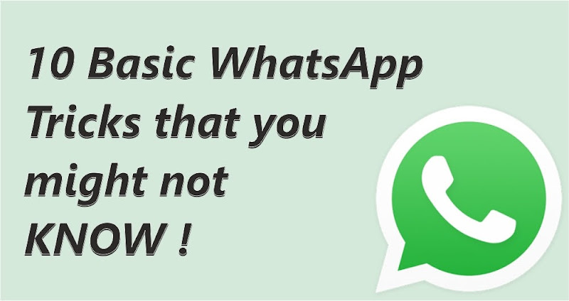 10 basic whatsapp tricks