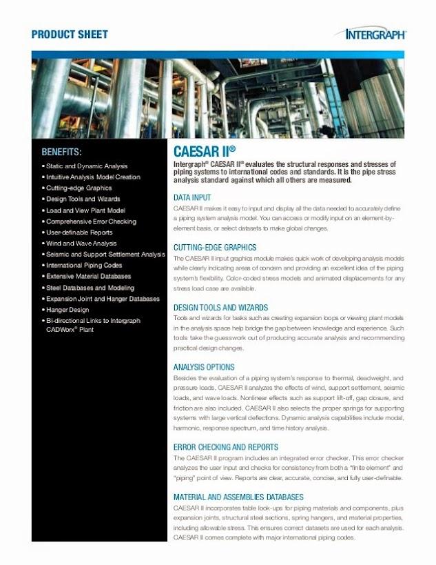 CAESAR II Описание продукта