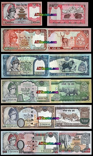 gambar uang rupee Nepal kertas, gambar uang kertas rupee nepal, gambar mata uang negara nepal