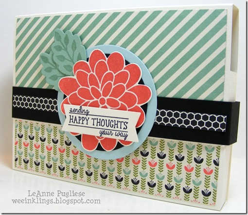 LeAnne Pugliese WeeInklings Pennie's Card Holder Flower Patch Stampin Up
