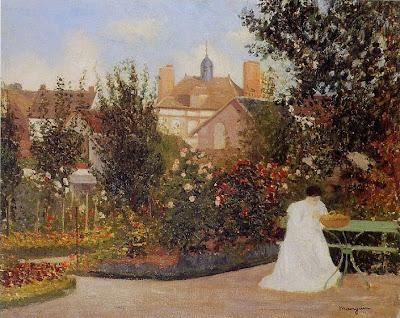 Henri-Charles Manguin - Jeanne dans le jardin à Colomb