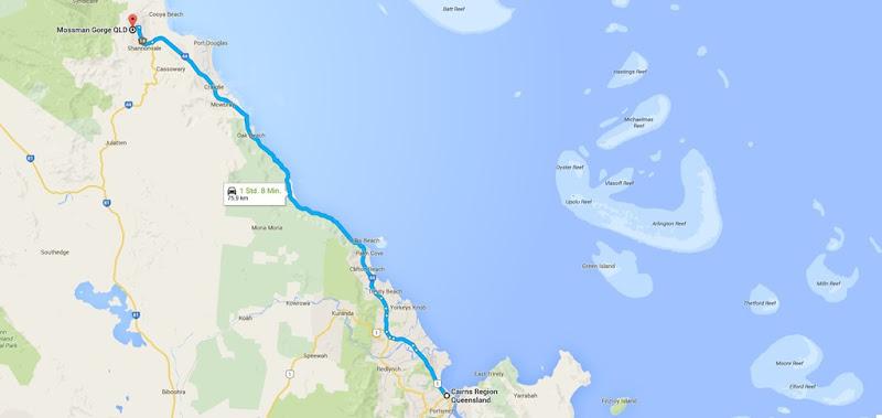 z40 von Cairns nach Mossman Gorge