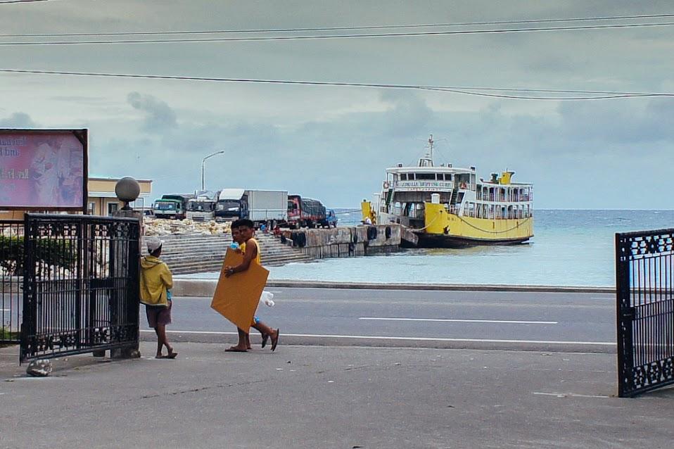 Danao port Filipiny