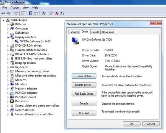 nVidia Geforce Go 7400 (Windows 7 32bit, 64bit) Driver Download