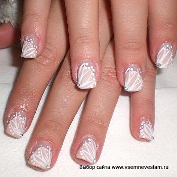 Wedding manicure/Свадебный маникюр