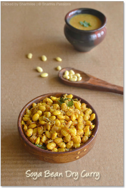 Soya Bean Dry Curry Recipe