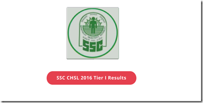 SSC CHSL 2016 TIER 1 Results out