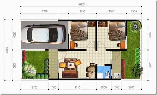 Desain Rumah Minimalis Type 36/72 | properti di dunia