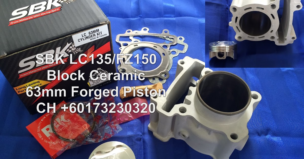 Ch Motorcycle Store Sbk Lc135 Ceramic Block 63mm Forged