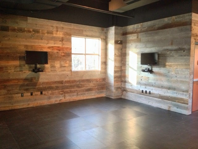 Reclaimed Wood Wall Mounted TV Console