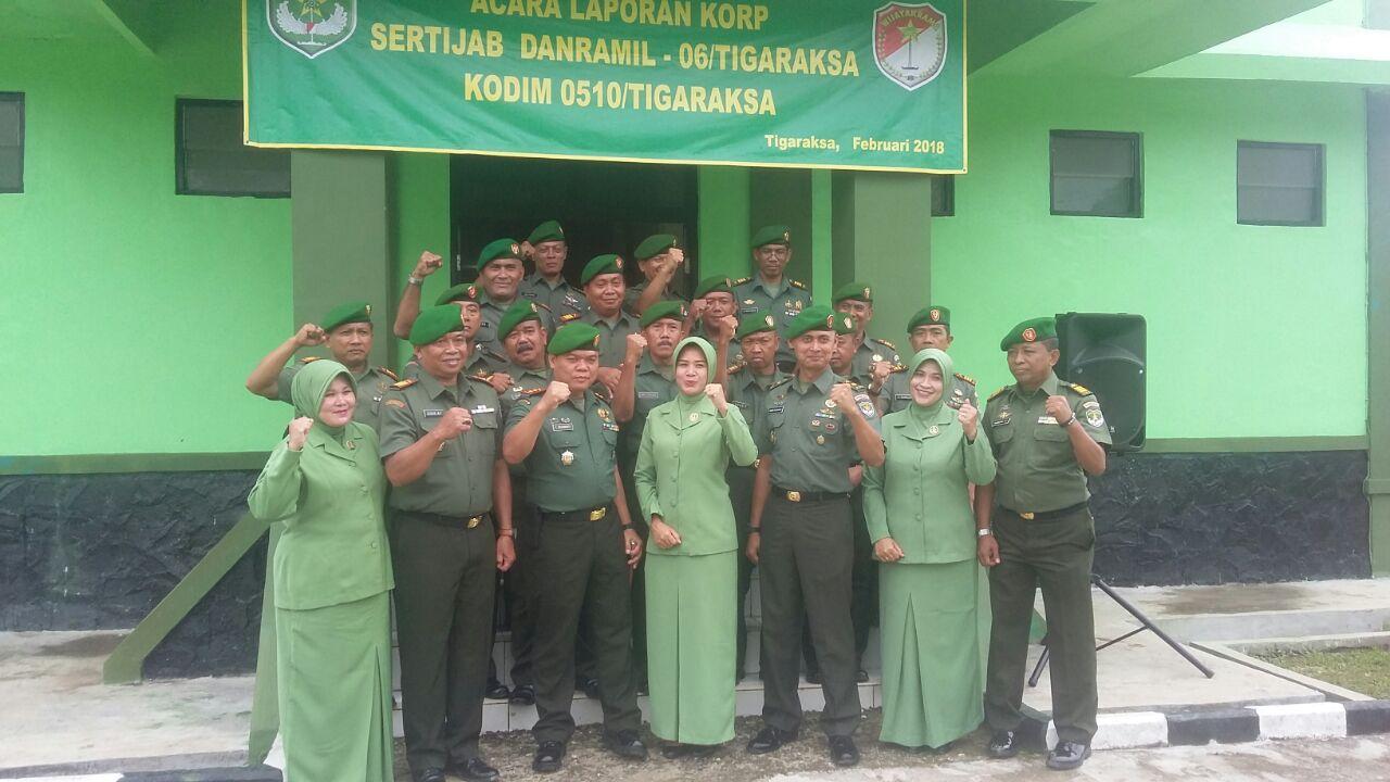 Sertijab Koramil 06 Tigaraksa Dari Kapten Arh Bambang Ep Ke Dalam Tersebut Di Hadiri Kasdim 0510 Mayor Agung Dan 14 Komandan Bawa Kesatuan Kodim Rem 052 Wkr