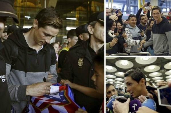 Torres được fan chào đón nồng nhiệt khi trở lại Atletico
