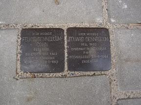 Waldeckstraat Stolpersteine voor fam. Denneboom