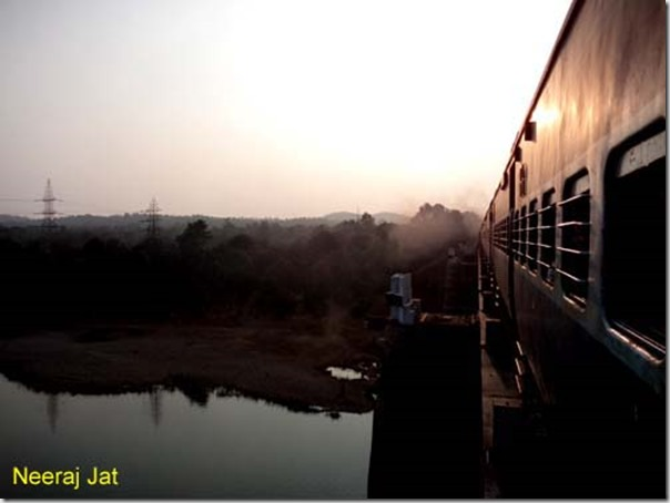 Train Crossing Tawa River in Madhya Pradesh