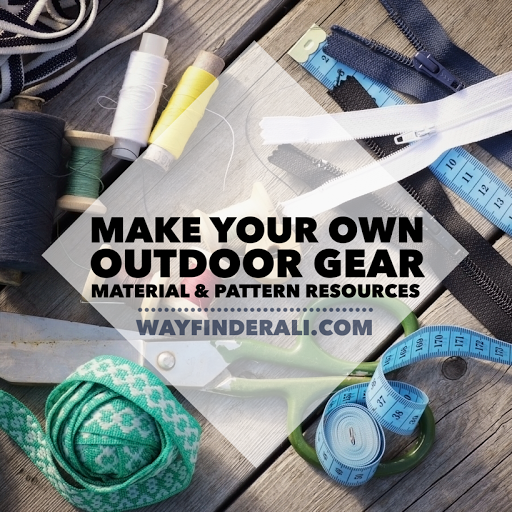MYOG DIY outdoor gear making resources