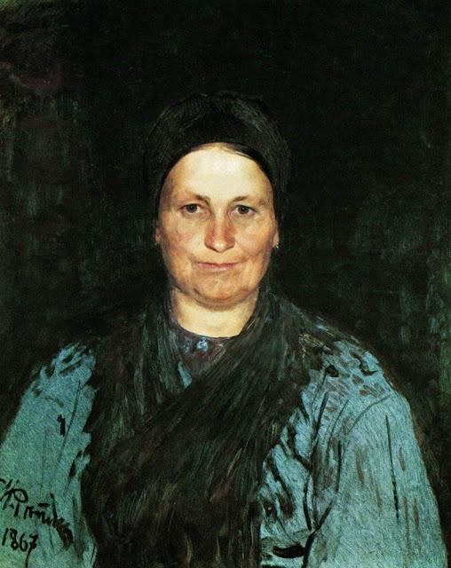 Ilia Repin - Portrait of Tatyana Stepanovna Repina, the artist's mother